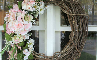 simple and thrifty diy floral wreath made with leftovers, crafts, flowers, how to, wreaths