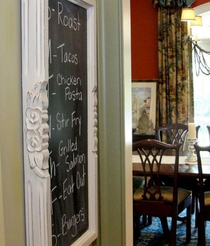 upcycled menu board, chalk paint, chalkboard paint, crafts, repurposing upcycling, wall decor