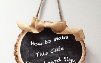 chalkboard tree sign, chalkboard paint, crafts, how to, repurposing upcycling