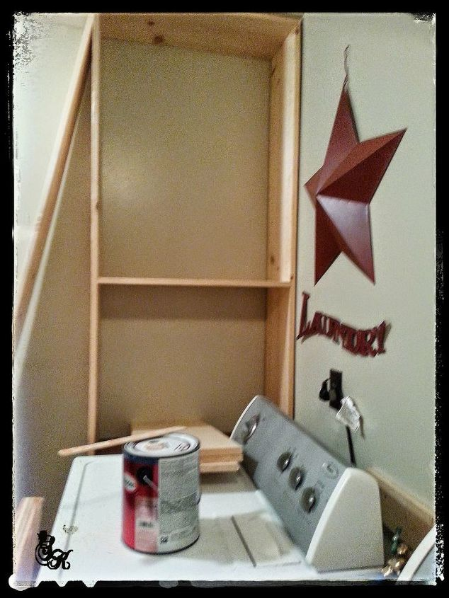dressed up for laundry with sk, diy, how to, laundry rooms, storage ideas