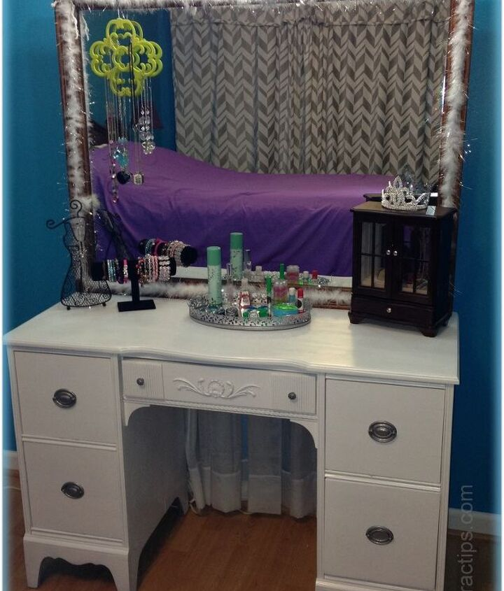 43 mile dressing table makeover, painted furniture, repurposing upcycling