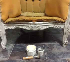 French Provincial Couch Miss Mustard Seed S Milk Paint, Painted Furniture,  Repurposing Upcycling,