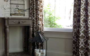 diy custom drapery look from ready made panels, how to, reupholster, window treatments, windows