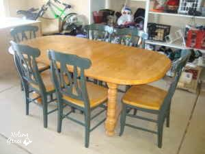 farmhouse style table makeover for 20, painted furniture