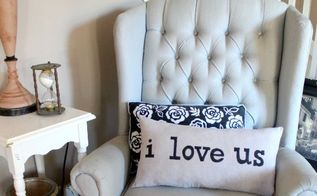 i love us pillow, crafts, how to, repurposing upcycling, reupholster