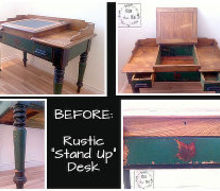 rustic standing desk gets spruced up, painted furniture, repurposing upcycling