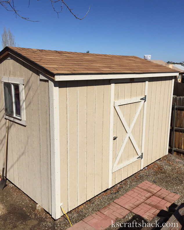 repurposed tool shed to craft room hometalk