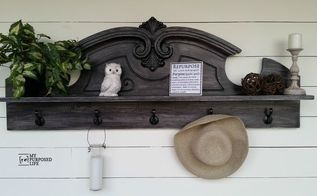repurposed pediment into coat rack shelf, foyer, organizing, repurposing upcycling, shelving ideas