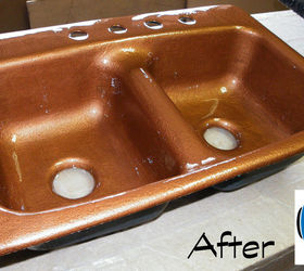 Great Cast Iron Sink Restoration Project, Kitchen Design, Painting, Repurposing  Upcycling