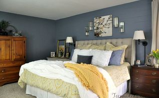 sultry master bedroom retreat, bedroom ideas, paint colors, painted furniture, painting, wall decor, window treatments