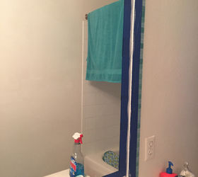 Tiled Bathroom Mirror Frame No Grout, Bathroom Ideas, How To, Tiling, Wall