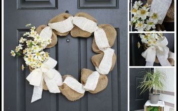 spring wreath, crafts, flowers, how to, wreaths