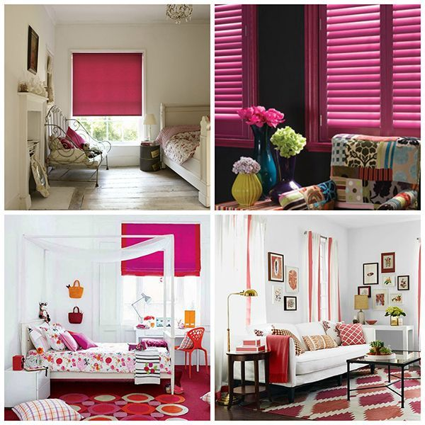 Pink Window Treatments