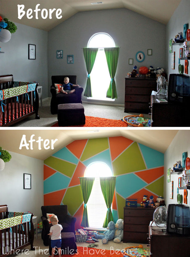 Bright BOLD Accent Wall In Little Boys Room Hometalk - Bold painted accent walls