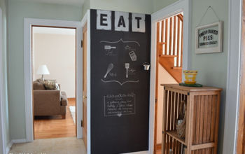 industrial chalkboard wall for the kitchen, chalkboard paint, crafts, kitchen design, wall decor