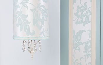 Taking a Vintage Pendant and Adding Wallpaper for a Fresh Look