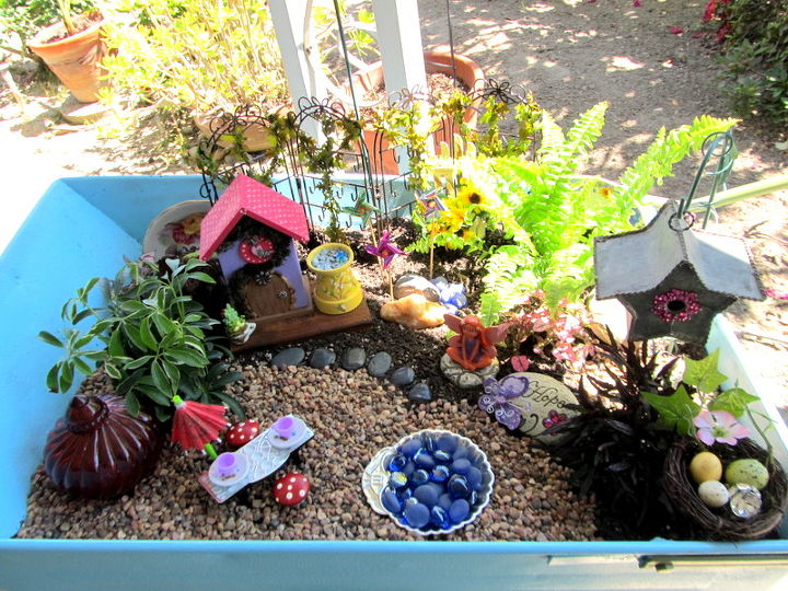 rusty cart to fairy garden, container gardening, crafts, gardening, painting, repurposing upcycling