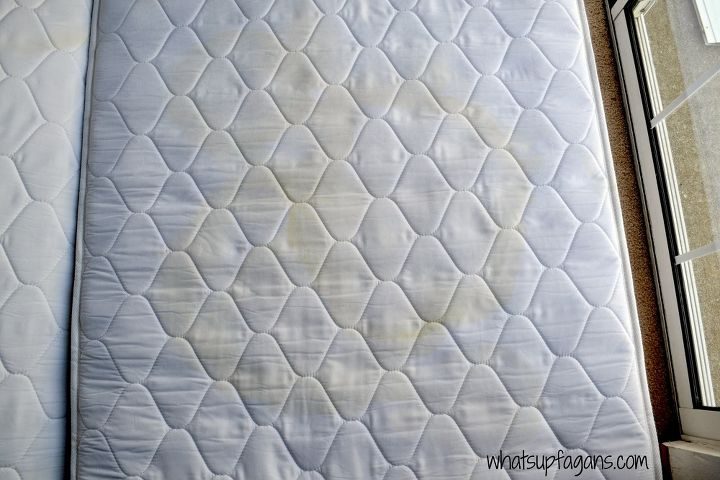 how to remove pee stains and smell from a mattress, cleaning tips, how to, reupholster