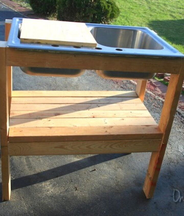 how you can make this awesome 5 garden potting stand, diy, gardening, how to, outdoor furniture, painted furniture, repurposing upcycling, woodworking projects