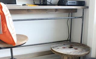 built in closet industrial desk, closet, painted furniture, repurposing upcycling, rustic furniture