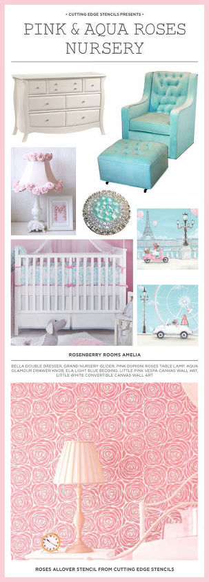 nursery inspiration boards featuring stencils, bedroom ideas, paint colors, painting, wall decor