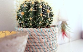 diy rope pot, container gardening, crafts, home decor, how to