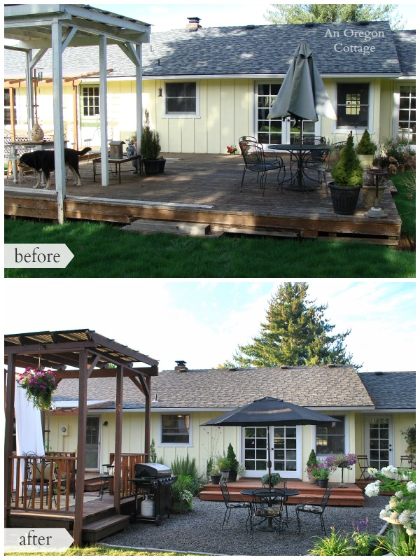 DIY Backyard Makeover Before And After