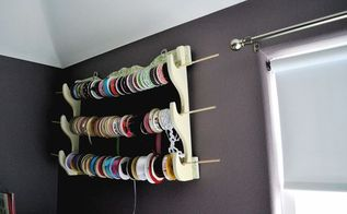 diy ribbon rack tutorial, crafts, how to, organizing, repurposing upcycling, storage ideas