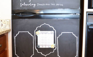 chalkboard fridge, appliances, chalkboard paint, crafts, how to, painting