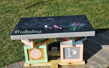 build it and they will play kid s play table, chalkboard paint, diy, painted furniture, woodworking projects