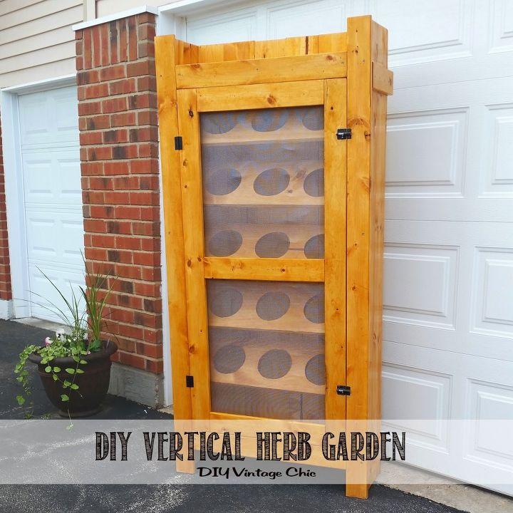 diy vertical herb garden part 2, container gardening, diy, gardening, how to, repurposing upcycling, shelving ideas