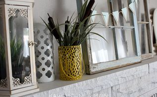 spring mantel 2015, fireplaces mantels, repurposing upcycling