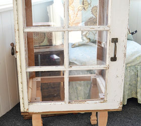 Target Inspired Old Window Cabinet | Hometalk