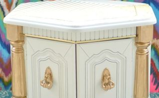 coffe table goes gold, painted furniture, repurposing upcycling