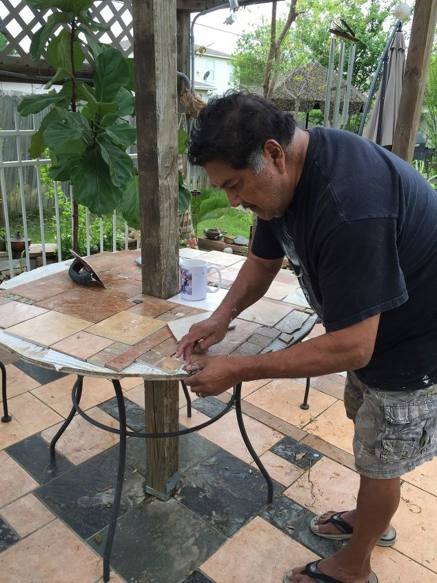 New Patio Table From Old One Outdoor Furniture Painted Repurposing Upcycling