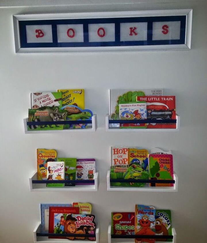 IKEA SPICE RACKS USED AS BOOK HOLDERS