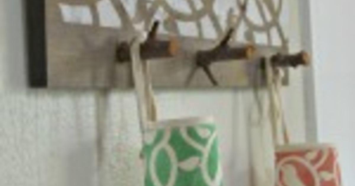 tree branch coat rack or apron rack hometalk. Black Bedroom Furniture Sets. Home Design Ideas