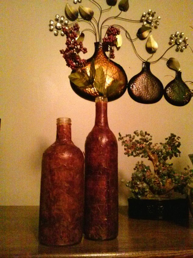 leather look bottle with masking tape, crafts, how to, repurposing upcycling