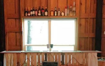 pallet bar for a barn wedding, how to, outdoor living, pallet, repurposing upcycling