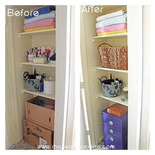 Organizing Bathroom Shelves: Organizing A Small Bathroom Space