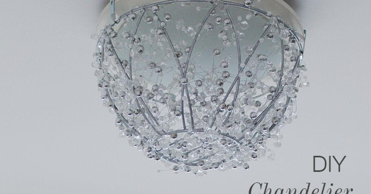 DIY Chandelier From a Hanging Plant Basket | Hometalk