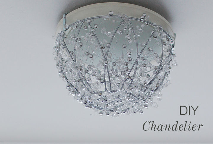 Diy Chandelier From A Hanging Plant Basket Crafts How To Lighting Repurposing
