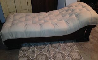 reviving and antique fainting couch, painted furniture, repurposing upcycling, reupholster