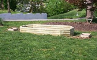 new planter for the yard, container gardening, gardening, raised garden beds