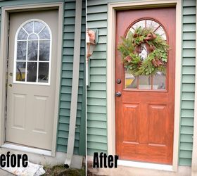 thrifty transformation how to paint a door to look like wood doors how to : painting door - pezcame.com
