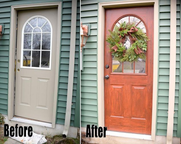 thrifty transformation how to paint a door to look like wood doors how to - Painted Wood Home 2015