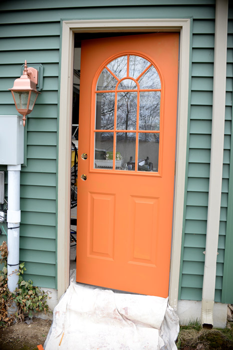 Thrifty Transformation How To Paint A Door To Look Like Wood Hometalk