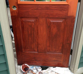 Thrifty Transformation How To Paint A Door To Look Like Wood, Doors, How To
