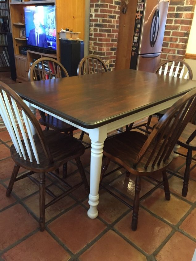 you inspired me to do it i tackled refinishing my casual dining set  chalk  paint. Refinished Dining Set   Hometalk