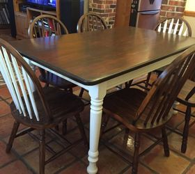 Exceptional Dining Room Table Refinishing Ideas Part - 7: You Inspired Me To Do It I Tackled Refinishing My Casual Dining Set, Chalk  Paint